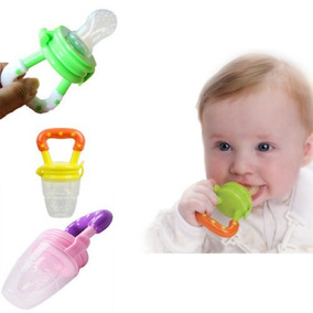 Alimentador Frutas Bebê Mordedor Bico Silicone Carne Chupeta