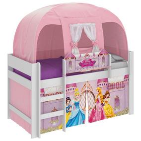 Cama Infantil Barraca Princesas Disney Rosa Pura Magia