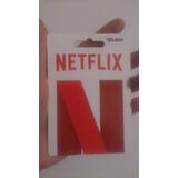 Netflix Gift Card 4 Pantallas 4k Tarjeta 30 Días