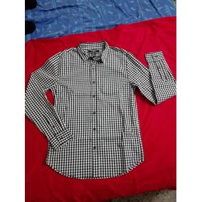 Camisa Slim-fit Cuadros Blanco Y Negro Ojo Talla Xs
