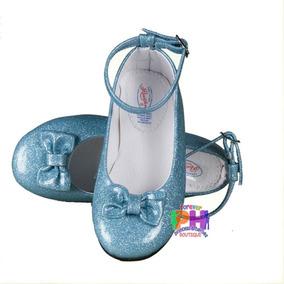 Zapato Para Princesa Color Azul, Zapatilla Elsa Cenicienta