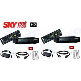 2 Receptores Sky Pré Pagoflexhd+habilitação Globo Sbt