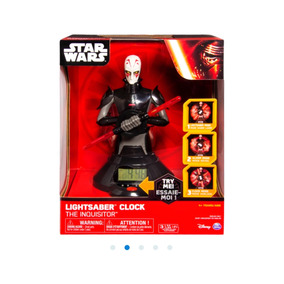 Star Wars Inquisitor Reloj Con Alarma Luz Y Sonido De Sable