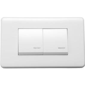 Interruptor Doble Color Blanco (gm86d-2m)