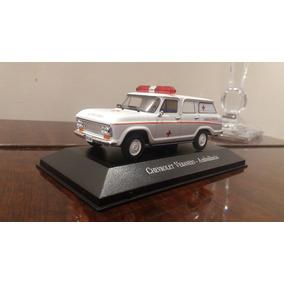 Miniatura Ambulância 1:43 Série Carros De Serviço Do Brasil.