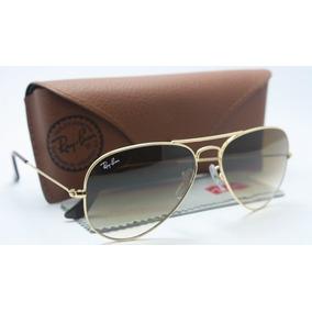 bdaa708390d3e Óculos Rayban Rb3025 Aviador Original Dourado Marrom Degrade