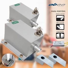 Kit 2 Trava Elétrica Eletromagnética P Portão C Temporizador