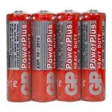 Caixa Com 4 Pilhas Aa Gp Power Plus 1.5v