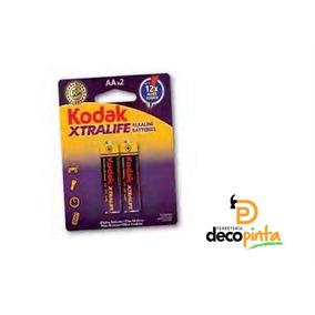 Pilas Bateria Aa 1.5v Alkaline Kodak 2 Pzas