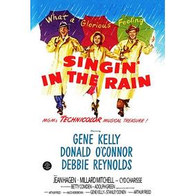 Poster Cartaz Vintage Retro Cantando Na Chuva Pintura Digit
