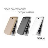 Telefone Celular Para Idosos Sos Flip 2g Viva 4 Dual Preto