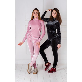 Conjunto Veludo Super Luxo Feminino Blusa Gola Alta+calça