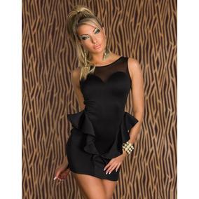 Sexy Vestido Negro Sin Mangas, Vestido Casual Para Fiesta