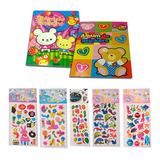 1 Album + 6 Planchas De Stickers Kawaii Para Colección