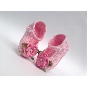 Sapatinho De Bebe Croche - Calçados Sapatos de Bebê no Mercado Livre ... 93a040e9b5c