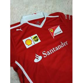 Camiseta Polo Ferrari Santander Vermelha 58724e916ad
