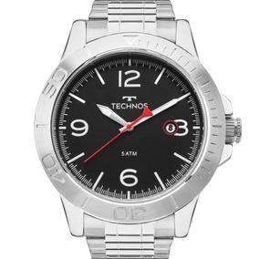 Relógio Technos Masculino Prata Aço Inox Original 2315kzo/1p