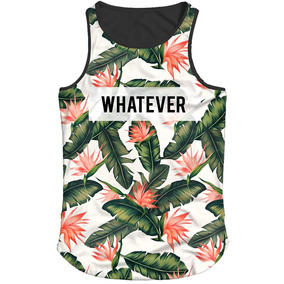 8d8c0ddfdb560 Camiseta Regata Long Line Floral Masculina - Camisetas e Blusas no ...