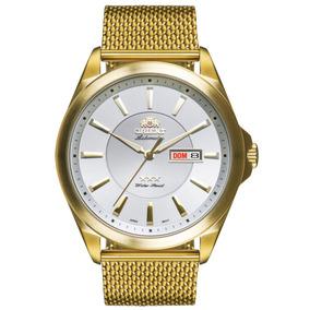 810840248a0 Relogio Orient Automatico Dourado 469gp056 - Relógios no Mercado ...