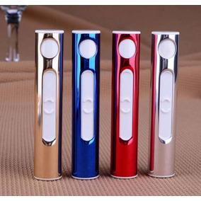 Isqueiro Para Cigarro Usb Recarregável Eletrônico - Dourado