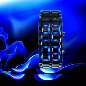 Reloj Lava Led Iron Samurai Acero Inoxidable Led Azul , Rojo