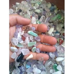 Pedras Aquario Roladas 2kg Quartzo Cristal Rosa Ametista