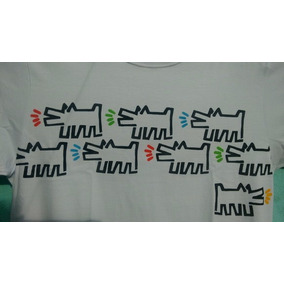 Camiseta Stencil - Cães Ladrantes - Keith Haring