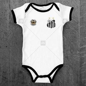 8adf10910d Body Santos Fc Infantil Futebol Personalizado C  Nome Bebê