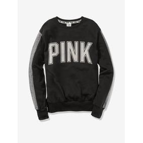 Sudadera Negra Glitter Pink Victorias Secret Xs, S, M, L