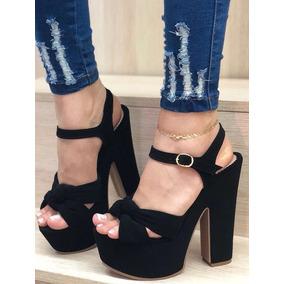 Zapatos De Tacón Negro Altos Super Lindos Dama Moda Femenina 5eab00de02f6