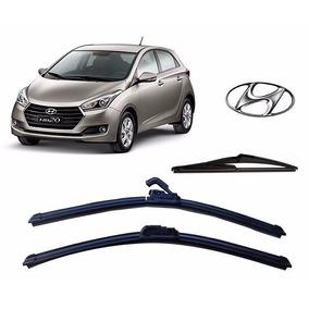 Kit 3 Palhetas Limpador Parabrisa Diant+tras Hyundai Hb20