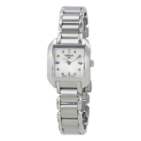 Reloj Tissot T-trend T-wave Mother Of Pearl Mujer T02128574