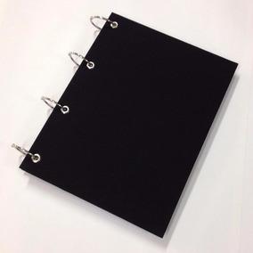Caderno Universitário Argolado 10 Matérias 200f Preto Liso