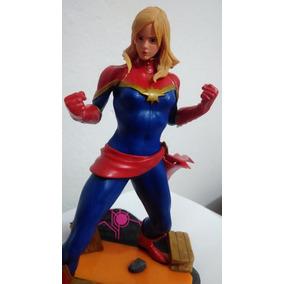 Estatua Capitã Marvel Do Marvel Vs Capcom Ps4 Pronta Entrega