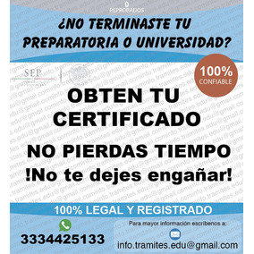 Certificado Preparatoria, Bachillerato, Títulos Profesional