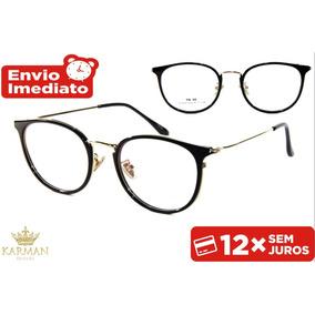 Armacao De Oculo De Grau Masculina Retro - Óculos no Mercado Livre ... 0ba0a0f9f1