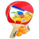 Kit Tenis De Mesa 2 Raquetes 3 Bolinhas Bel Fix Hawt