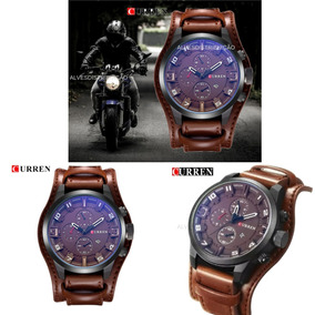 Relógio Curren Masculino Importado Original Couro 8225