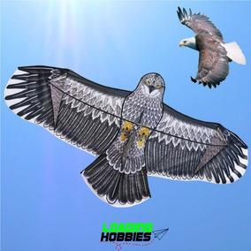 Barrilete Aguila Cometa Con Forma Tela Avión Animal Simple