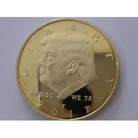 Moneda Dolar Donald Trump Usa Bañada Oro 24 K. Encapsulada