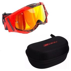 6e30a0b9c95fd Óculos Texx Raider Vermelho Preto Off Road Motocross Trilha