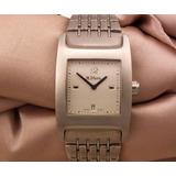 4e8c63eaaa0 Relógio H Stern Quadrado Em Aço Visor De Safira J12627