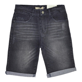 66880d7a9d 80302230 Bermuda C  Cinto Marisol Jeans Black