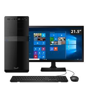 Computador Easypc I5 8gb Hd 3tb Monitor 21.5 Windows 10