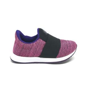 Tênis Via Vip Infantil New Jogging Vnj221 - Pink