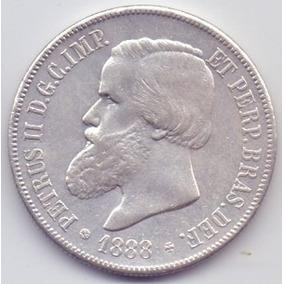 Moeda 2000 Réis 1888 Prata Do Império Lote3