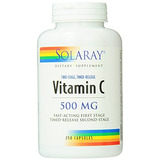 Vitamina C 500 Mg Solaray C Dos Fase Timed Release