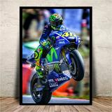 Poster Quadro C/ Vidro Valentino Rossi 46 Moto Gp 45x35cm #1