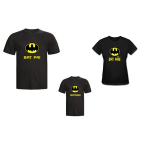 b91a7dbd37 Kit Camisetas Personalizada Tal Pai Batman - Cor Preto