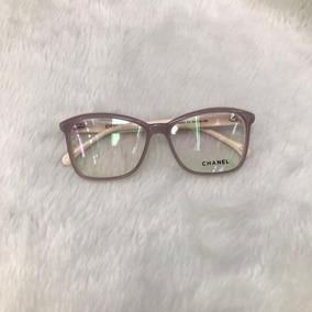 cc0d8c9d92480 Oculos De Grau Chanel Marrom Creme - Óculos no Mercado Livre Brasil